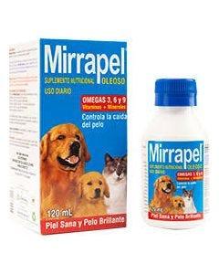 Suplemento alimenticio para perros y gatos   Mirrapel Oleoso 120 mL