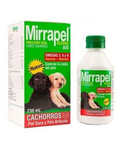 Suplemento alimenticio para perros y gatos   Mirrapel Aid 236 mL