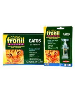 Solución cutánea contra pulgas, garrapatas y piojos para Gatos  Fronil