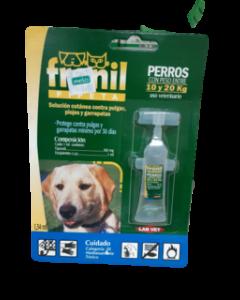 Solución cutánea contra pulgas, garrapatas y piojos para Perros de 10 a 20 Kg Fronil