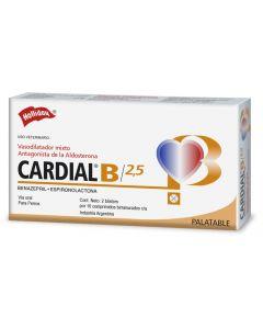 Medicamento para Perro 2.5 mg  Cardial B 20 tabletas