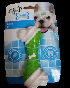 Juguete dental para mascota en forma de hueso