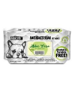 Toallitas antibacteriales aloe vera para perros