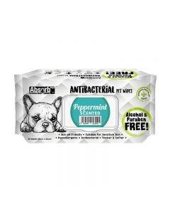 Toallitas antibacteriales olor a menta para perros