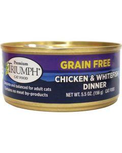 Alimento Húmedo para Gato  Sabor pollo y pescado Triumph 5 oz