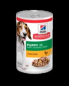 Alimento Húmedo para Perro Cachorro sabor pollo Hills 370 gramos