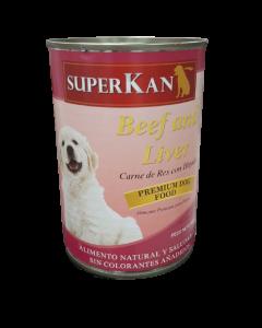 Alimento Húmedo para Perro SuperKan sabor Res/Hígado pollo 400 gramos