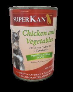 Alimento Húmedo para Perro SuperKan sabor pollo y vegetales 400 gramos