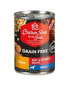 Alimento Húmedo para Perro Adulto sabor carne Chicken Soup for the Soul Grain Free 371 gramos