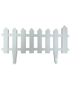 Cerca plástica blanca para jardín