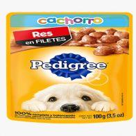 Alimento húmedo para perro sabor res Pedigree 100 gramos
