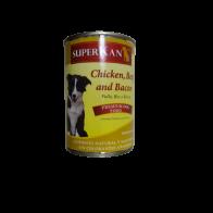 Alimento Húmedo Para Perro sabor pollo, res y tocino  Superkan 400 gr.