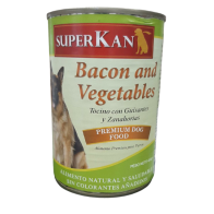 Alimento Húmedo para Perro SuperKan sabor tocino y vegetales 400 gramos