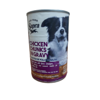 Alimento Húmedo para Perro  sabor pollo Supra 400 gramos