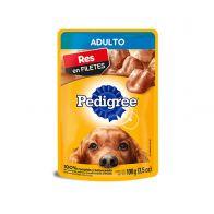 Alimento Húmedo para Perro Adulto Pedigree Pouch Sabor Res 100 g.